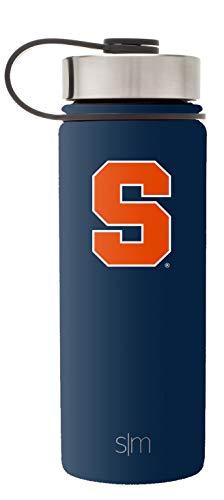 Simple Modern 18oz Summit Water Bottle - Syracuse Orange Vacuum Insulated 18/8 Stainless Steel Travel Mug - Syracuse