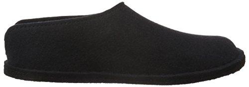 Haflinger Smily 311013 - Pantuflas de fieltro unisex Negro