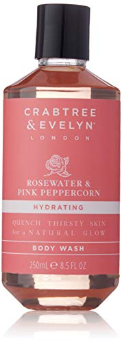 Crabtree & Evelyn Rosewater & Pink Peppercorn Body Wash, 8.5 Fl Oz
