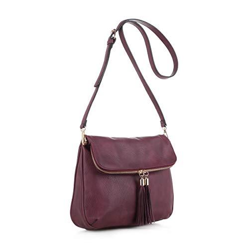 Concealed Carry Crossbody Bag | Firearm Purse | Detachable Strap | Wine