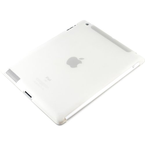 (kwmobile TPU Silicone Case for Apple iPad 2/3 / 4 - Soft Smart Cover Compatible Protective Cover - White )