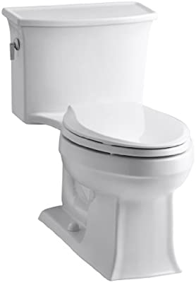 Kohler K-3639-0 Archer Class Five Elongated One-Piece Toilet, Less Supply, White
