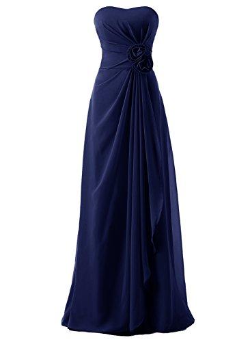 Chiffon Empire Waist Evening Gown - 3