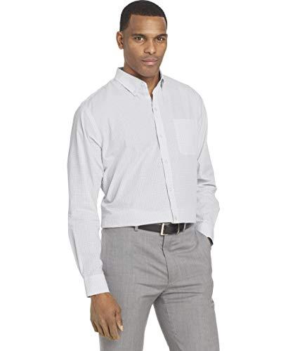 Van Heusen Men's Wrinkle Free Poplin Long Sleeve Button Down Shirt, Bright White, X-Large