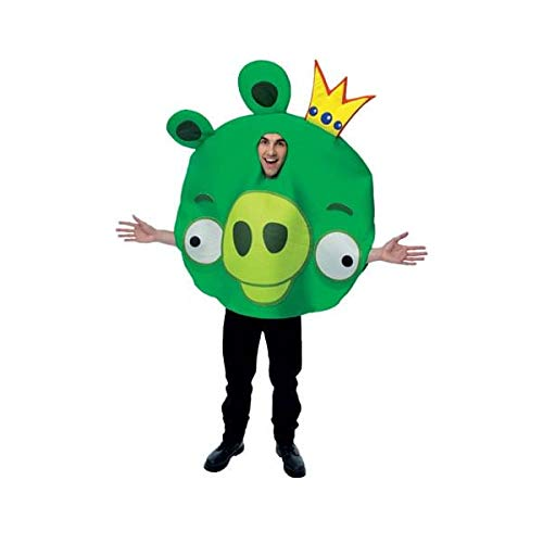 Paper Magic Unisex - Adult Angry Birds King Pig Costume, Green, One Size ()