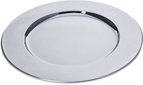 Carlisle 608924 Celebration Chrome Plated Iron Charger Plate, 12.19'' Diameter x 0.44'' Height (Case of 12) by Carlisle
