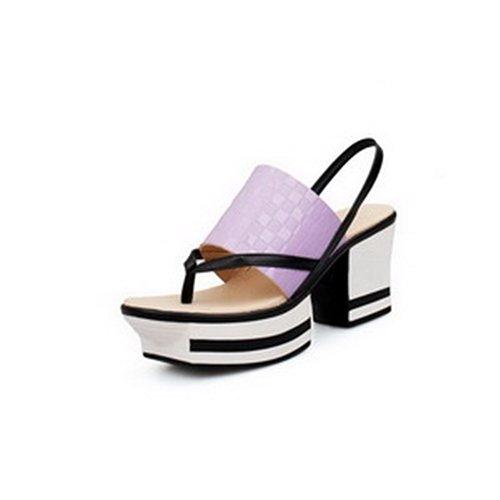 Embossed Leather Heels - 7
