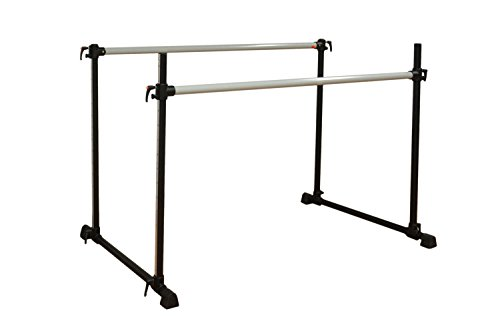 Vita Vibe Ballet Barre - DS96 8ft Portable Adjustable Height Twin Bar - Freestanding Stretch/Dance Bar - Vita Vibe - USA Made by Vita Vibe