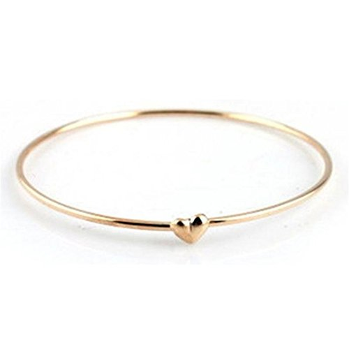 Banggood Womens Peach Heart Wish Chain Bangle Bracelet Cuff Daily Decoration