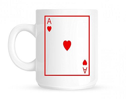 Ace Of Hearts Coffee Mug White