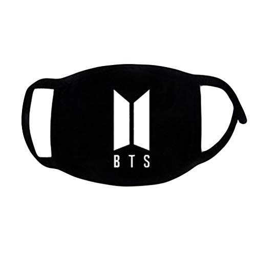 JUA PORROR Face Mouth Mask -Kpop BTS Fans Unisex Muffle Respirator Cotton Letters Print Soft (B) ()