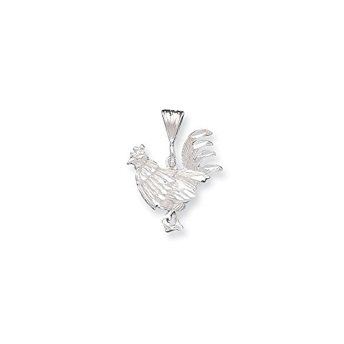 .925 Sterling Silver Chinese Zodiac Sign Year of The Rooster 2017 Charm Pendant -