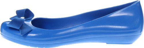 mel Dreamed by melissa Women's Pop II Flat,Blue,8 M US