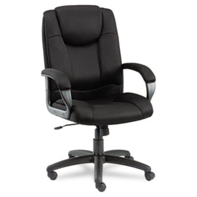 Alera LG41ME10B Logan Series Mesh High-Back Swivel/Tilt Chair, Black (City Of Logan)