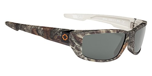 Spy Optic Dirty Mo Polarized Shield Sunglasses, True Timber/Happy Gray/Green Polar, 1.5 - Green Sunglasses Spy