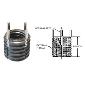Internal Thread 1//2-13 Heavy Duty Stainless Steel CL-1213-TSKS Carr Lane Manufacturing Thinwall Key Inserts