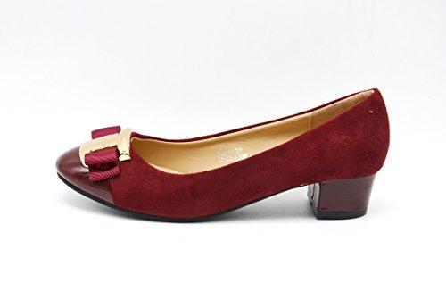 Bailarinas o de con dise tac zapato de ante SHF07 de dwF67d