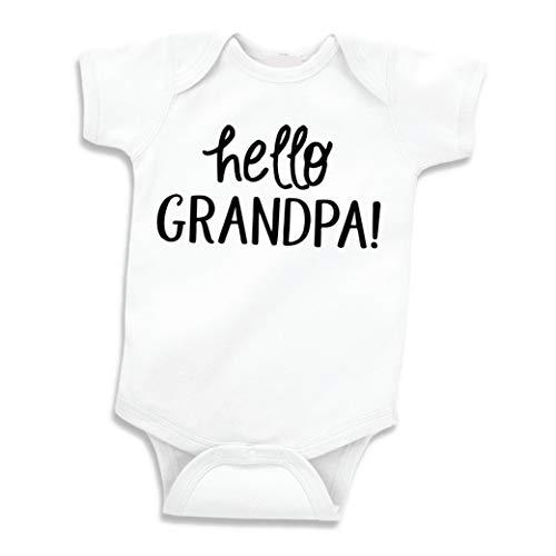 - Surprise Pregnancy Announcement for Grandpa, Hello Grandpa (0-3 Months) Black