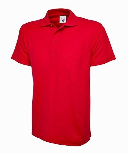 Uneek uc124poliestere/cotone unisex Olimpico Polo, XL, colore: rosso