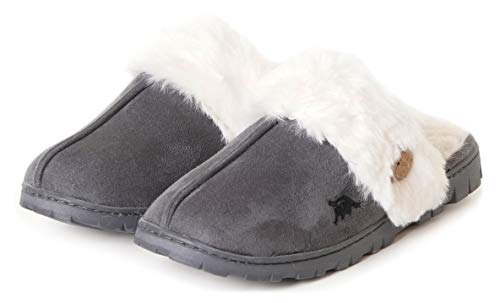 495acf7b492f EuropeanSoftest Womens 80-D Memory Foam Slippers Slip On Faux Fur Warm  Winter Mules Fluffy