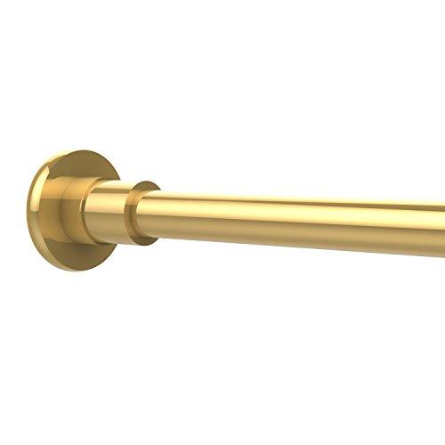 Allied Brass 1099-PB Shower Curtain Rod Brackets, Polished Brass ()