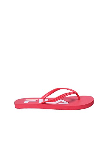 Fila Womens Troy Slippers Synthetic Thong Sandals Danger Pink