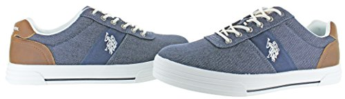 Us Polo Assn. Hombres Helm Fashion Sneaker Chambray Denim