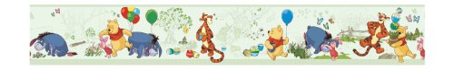 York Wallcoverings Disney Kids DK5840BD Pooh & Friends Toile Border, Green (Pooh Border)