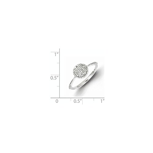 Size 6 Solid 925 Sterling Silver Diamond Round Ring (1mm) (1/5ct.) by Sonia Jewels (Image #1)