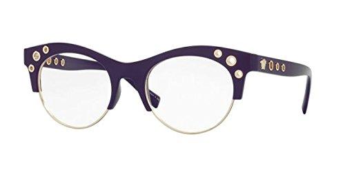 Versace VE3232 Eyeglass Frames 5185-52 - 52mm Lens Diameter Violet VE3232-5185-52 by Versace
