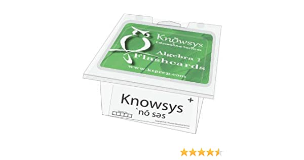 Knowsys Basic Genius Math Flashcards: Algebra I: Knowsys ...
