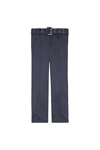 French Toast School Uniform Girls Pull On Self Belt Pants, Navy, ()