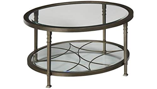 GTU Furniture Atrium Metal Oval Beveled Glass Coffee/Cocktail Table (Oval 18