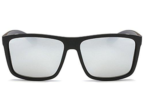 Léger Femme Homme Wayfarer argenté Noir Aviator Polarisées de Super UV400 Soleil Lunettes q4wUagH