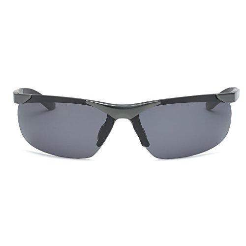 conducción libre lens aluminio LX Color de Tea Gray de Gafas de UV magnesio para Protección nuevo tea equitación Black aire al polarizadas Frame de hombres Gafas de deportiva frame LSX Lens sol Gray vvcSqwBWap