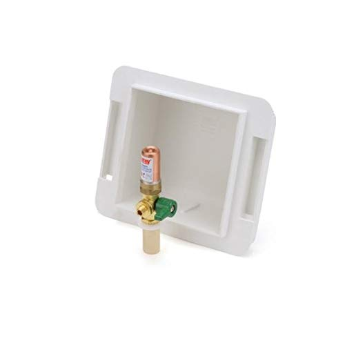 Oatey 39122, Fire Rated 1/4'' Turn CPVC Low Lead Ice Maker Outlet Box, Pack of 2 pcs
