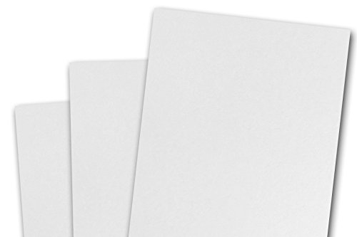 Ultra Smooth Square White Heavy Thick 100# Card Stock -50 Pack- 270GSM (5x5)