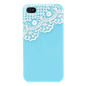 Lace and Pearl Decorated PC Hard Case for iPhone 4/4S (Assorted Colors) --- COLOR:Purple