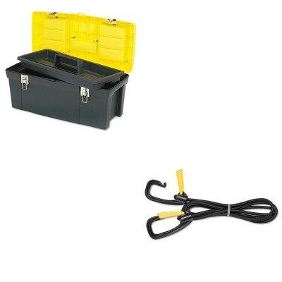 Kantek Bungee Cord - KITBOS019151MKTKLGLC10 - Value Kit - Kantek Bungee Cord w/Locking Clasp (KTKLGLC10) and Black Industrial 26quot; Tool Box (BOS019151M)