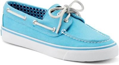 Sperry Bahama Women's Boat Shoe in Turquoise Canvas 9266321 (6 B(M) US)