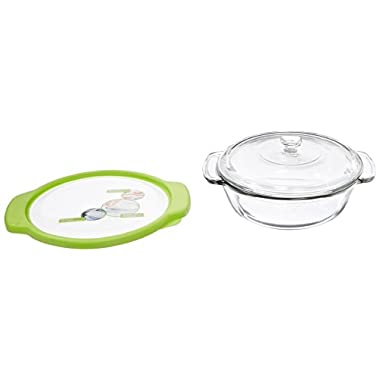 Anchor Hocking 74885 Trufit Glass Casserole Dish, 2-Quart