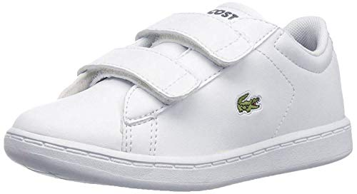 Lacoste Baby Carnaby Evo BL 1, White/Navy, 9. M US Toddler (Boys Shoes Lacoste Big)