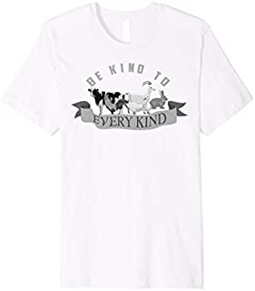Be Kind To Every Kind  | Cool Real Vegans  Gift T-shirt | Size S - 5XL