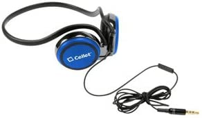 Cellet Stereo Sports Headphones with Hands Free Microphone Blue Compatible with Amazon Kindle Fire HD 7