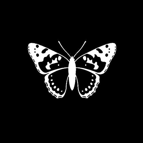 SHMAZ 14.7 Cm * 9.6 Cm Interessante Mooie Vlinder Schaduw Delicate Decal Mooie Auto Sticker Zwart/Zilver