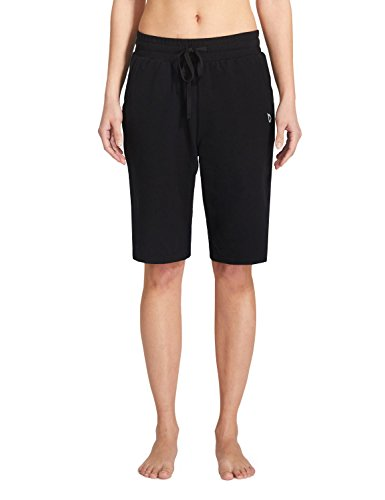 Bermuda Lounge (Baleaf Women's Active Yoga Lounge Bermuda Shorts With Pockets Black Size M )