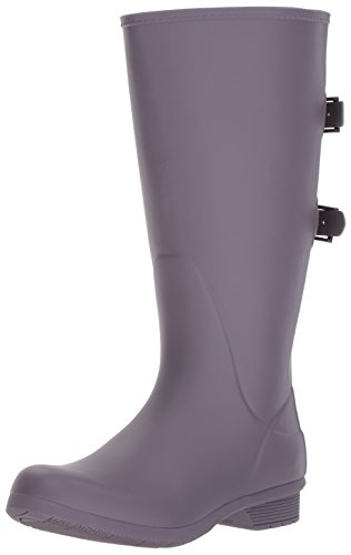 Chooka Boots Rain Boots - Chooka Women's Wide Calf Memory Foam Rain Boot, Mulberry, 9 M US