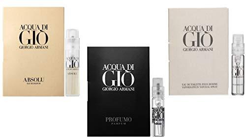 Giorgio Armani Acqua Di Gio Absolu Spray Sample Travel Vial .04 oz / 1.2 ml MENS NEW
