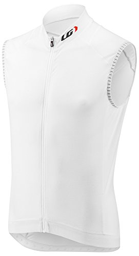 Louis Garneau Sleeveless Jersey (Louis Garneau Men's Lemmon 2 Lightweight, Sleeveless, Full Zip Cycling Jersey, White, Large)
