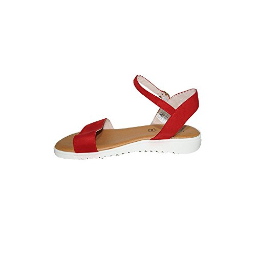 Cómodas Confort Primar Alejandra Shoes Mujer Verano Para Plana Kaki Casuales 2018 Negro Zoe Sandalia Rojo Moda Piel TTpqwxF4